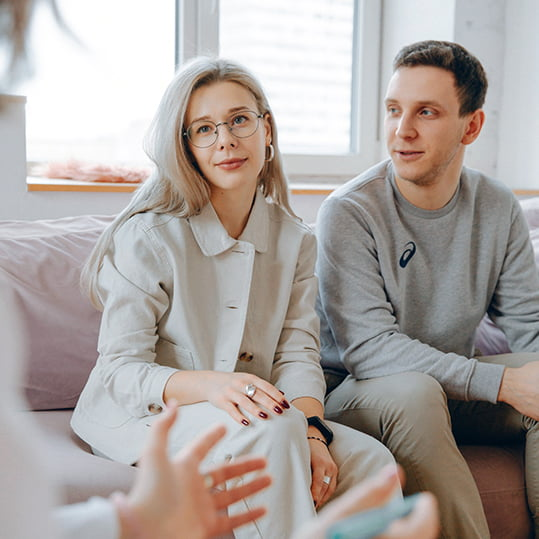 Couple attending counselling and therapy session in Chester